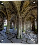 Valle Crucis Chapter House  Acrylic Print by Adrian Evans