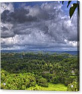 Valley At Chocolate Hills Acrylic Print