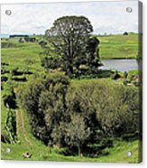 Valley At Hobbiton Nz Acrylic Print