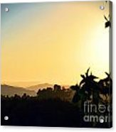 Valley Center Sunset Digital Paint Effect Acrylic Print
