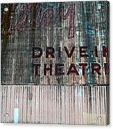 Valley Drive-in Theatre Acrylic Print