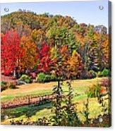 Valley Farm In The Fall Acrylic Print