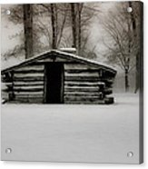 Valley Forge Cabin In Winter Acrylic Print