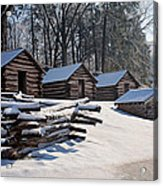 Valley Forge Cabins After A Snow Acrylic Print