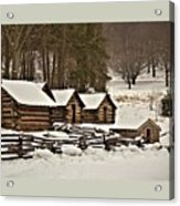 Valley Forge Cabins In Snow 2 Acrylic Print