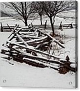 Valley Forge Snow Acrylic Print