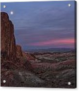 Valley Of Fire Moonrise Acrylic Print