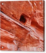 Valley Of Fire Mouse's Tank Sandstone Wall Acrylic Print