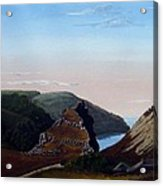 Valley Of Rocks Devon Acrylic Print