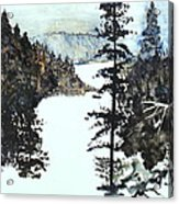 Valley Snow Acrylic Print