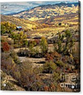 Valley View Acrylic Print by Robert Bales
