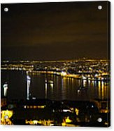 Valparaiso Harbor At Night Acrylic Print
