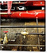 Valves Lines And Tanks Acrylic Print by Dale Stillman