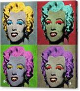 Vampire Marilyn Set Of 4 Acrylic Print