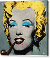 Vampire Marilyn With Surreal Pipe Acrylic Print