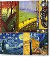 Van Gogh Collage Acrylic Print