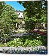 Van Gogh - Courtyard In Arles Acrylic Print