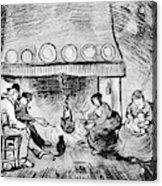 Fireplace, 1889 Acrylic Print