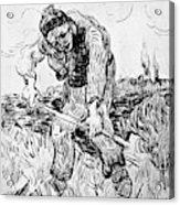 Peasant Hoeing Acrylic Print