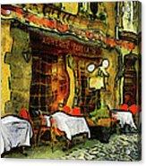 Van Gogh Style Restaurant Acrylic Print
