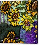 Van Gogh Sunflowers Cover Acrylic Print