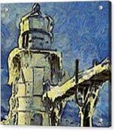 The Frozen Lighthouse Lake Michigan Acrylic Print
