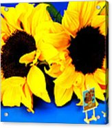 Van Gogh's Sunflower Miniature Art Acrylic Print