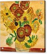 van Gogh's Sunflowers in Watercolor Acrylic Print