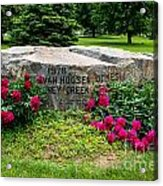 Van Hoosen Jones Stoney Creek Entrance Stone Acrylic Print