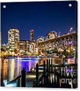 Vancouver At Night Acrylic Print
