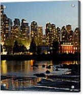 Vancouver Bc City Skyline And Deadman's Island Acrylic Print