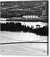 Vancouver Bc City Skyline And Lions Gate Bridge Acrylic Print