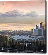 Vancouver Bc City Skyline And Stanley Park Acrylic Print