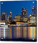 Vancouver Bc City Skyline Reflection Acrylic Print