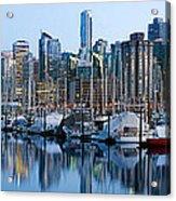 Vancouver Bc Skyline Along False Creek Acrylic Print