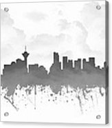 Vancouver British Columbia Skyline - Gray 03 Acrylic Print
