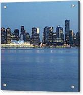 Vancouver Canada Place Skyline Blue Hour Acrylic Print