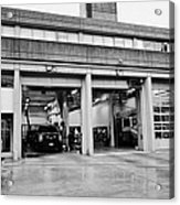 Vancouver Fire Rescue Services Hall 2 In Downtown Eastside Bc Canada Acrylic Print by Joe Fox