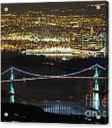 Vancouver Nightlights Acrylic Print