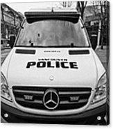 Vancouver Police Mercedes Response Van Vehicle Bc Canada Acrylic Print by Joe Fox