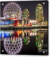 Vancouver Science World In False Creek - By Sabine Edrissi Acrylic Print