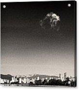 Vancouver Skyline Acloud Over English Bay Acrylic Print