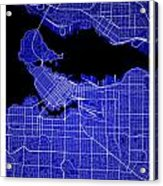 Vancouver Street Map - Vancouver Canada Road Map Art On Colored  Acrylic Print