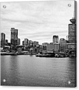 Vancouver Waterfront Skyline At Gastown Bc Canada Acrylic Print by Joe Fox