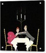 Vanity Fair Cover Couple Grabbing Each Other Acrylic Print