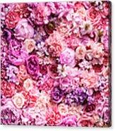 Various Cut Flowers, Detail Acrylic Print