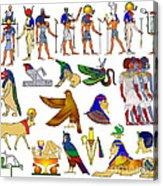 Various Themes Of Ancient Egypt Acrylic Print