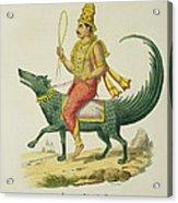 Varuna, God Of The Oceans, Engraved Acrylic Print