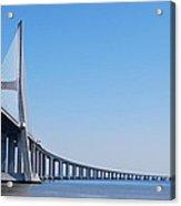 Vasco Da Gama Bridge In Lisbon Acrylic Print