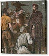 Vasco Da Gama On His Way To The East Acrylic Print